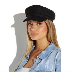 Black Cabby Hat, NWT